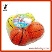 Vinyl ball toys vinyl mini basketball with BB sound