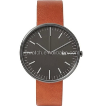 YB 2015 popular design trendy men leather wristwatch