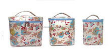 Three-piece cosmetic bag ,set of hand cosmetic/makeup/toiletry case