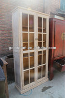 chinhese antique furniture/ relaimed wood glass cabinet