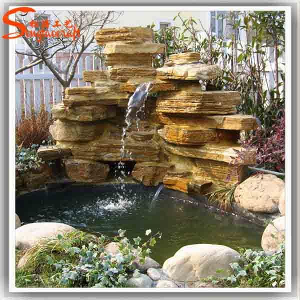 large outdoor fiberglass fountain decorative glass water garden