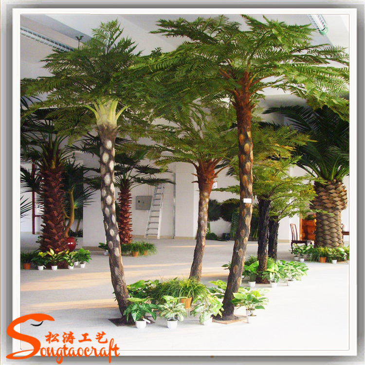 Tree artificial outdoor steel palm trees cheap artificial trees