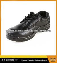 de acero de los zapatos de cuero del dedo del pie/zapatos de trabajo industriales
