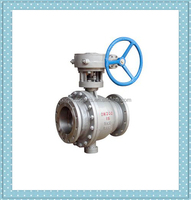 150lb 300lb 600lb high pressure gear operated stainless steel metal to metal seat ball valve