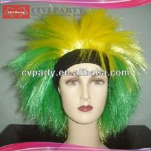 Fashion hot selling synthetic party wigs synthetic party wigs funny mustache quotes