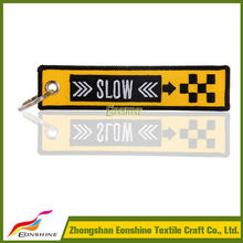 2015 Embroidery keychan custom Airline remove before flight