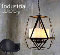 New style Industrial Metal Cage Rustic Pendant Light