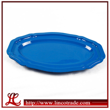 17 Inch Plastic PS Oval Disposable Plate For Party