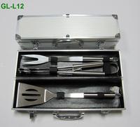 3 pc BBQ set in aluminum case