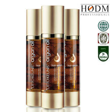 Organic shiny natural cosmetics argan oil to nourish and soften hair
