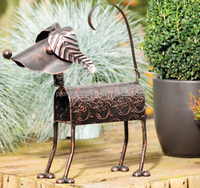 metal garden figure,metal dog ornament,cat garden decoratiom