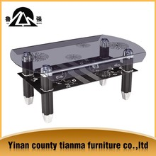 tempered glass coffee table with chrome plated legs
