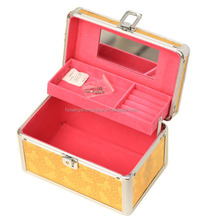Professional metal box aluminum makeup train case