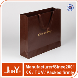 hot stamping gold foiled popular paper shopping bags