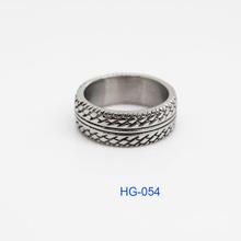 Best Seller 316L Stainless Steel Silver Color Wheelset Mans Ring (HF-054)