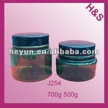 500ml 750ml hair plastic cream jar