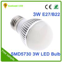Latest model AC85-265V CE ROHS passed SMD5730 6pcs led bulb g9 3w e14