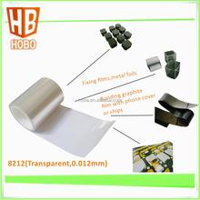 Transparent pet double sided adhesive film , 12 micron pet film