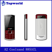 Used mobile phone model A2 Coolsand 8851CL and Dual SIM dual standby