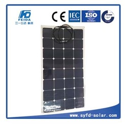 Hot sale flexible solar panel 100w with MC4 connector for boat