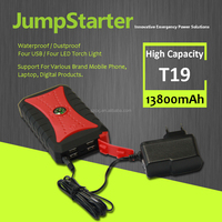 12V Multi-Function Auto Car Emergency Kit Mini Portable Power Bank Battery Jump Starter With Air Compressor