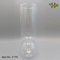 40cm Tall Funnel Flower Glass Vase With Round Bottom