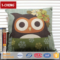 Hot Sale Cartoon Owl Design Cushion Pillows Custom Whoopee Cushion Baby Pillow Shams