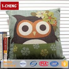 Hot Sale Cartoon Owl Design Cushion Pillows Custom Whoopee Cushion Baby Pillow Shams