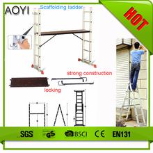 Ay-j0206 casa di design moderno scalette pieghevoli alluminio mini patibolo