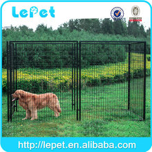 wholesale Large outdoor galvanized kennel for dog/pet display cage/commercial dog cage