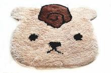 New fashional bear shape beige animal cartoon rugs