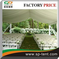 funeral tent 15mx30m in aluminum frame with flame retardant fabric
