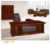 Executive solid wood executive office furniturewith paper veneer finished
