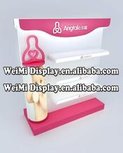 wooden display stand for baby products/book/snacks,skincare products display rack ,cosmetic display stands,body lotion display