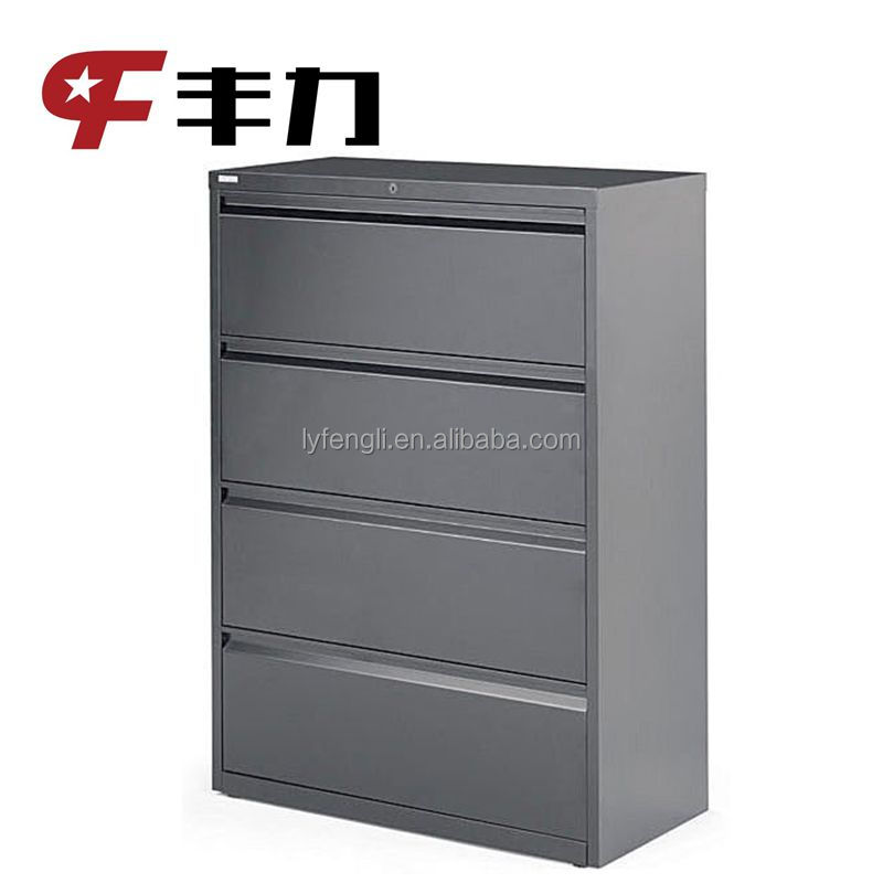 lateral office steel drawer documents cabinet with anti. Black Bedroom Furniture Sets. Home Design Ideas