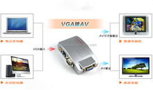 PC VGA to TV AV RCA Adapter Converter
