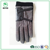 Fashion men's leather gloves with cloth fabric back side