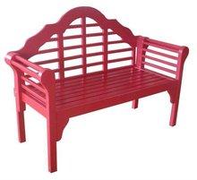 Wooden Outdoor Bench -Pink