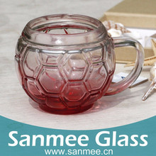 350ml Machine Press High Quality Advertising Logo Transparent Football Glass Water Glass Cup