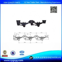 China supplier leaf spring suspension system 2,3,4 axles American type trailer suspension for semi trailer,trailer parts