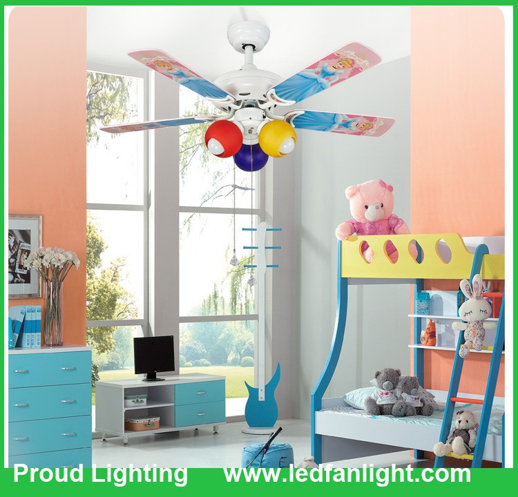 42 Inch Childrens Decorative Ceiling Fan With Three