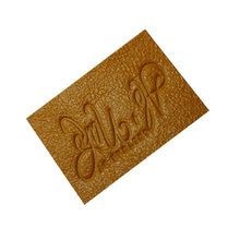 diseño de moda de la PU de cuero etiqueta