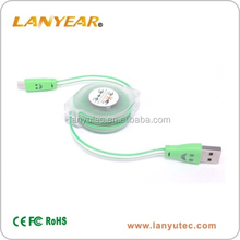 retractable led light cable micro usb cable for promotion gift