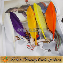 New arrival Goose feather ballpoint pen,Feather quill pen with OPP package
