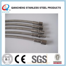 stainless steel wire braided gas flexible hose PTFE hose