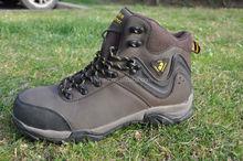 Best selling men hiking shoe Pu leather light weight waterproof high ankle sport shoe