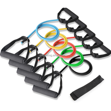 Latex resistance bands with clips, stretch training band with door anchor
