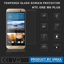 Wholesale !! 0.26mm Thickness Mobile Phone 9H Clear Tempered glass screen guard for HTC ONE M9 Plus + (OEM/ODM)
