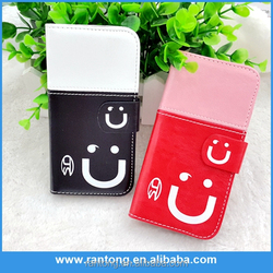 Latest arrival long lasting leather book case for iphone 5c from manufacturer
