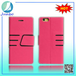 New arrival Fashion pu leather flip case cover for iphone 6